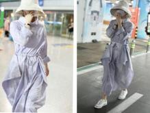 赵丽颖产后现身,清新淡紫长裙展现良好状态