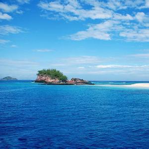 风景头像_大海蓝天小岛风景头像