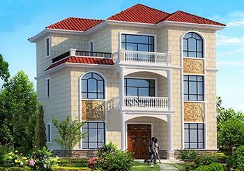 设计图纸及效果图大全 > 正文  在农村30万可以建造的三层别墅款式,带