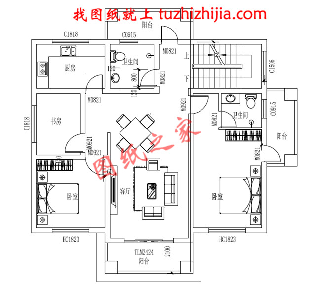 6米三层房屋设计图,要求一楼客厅,楼梯图片