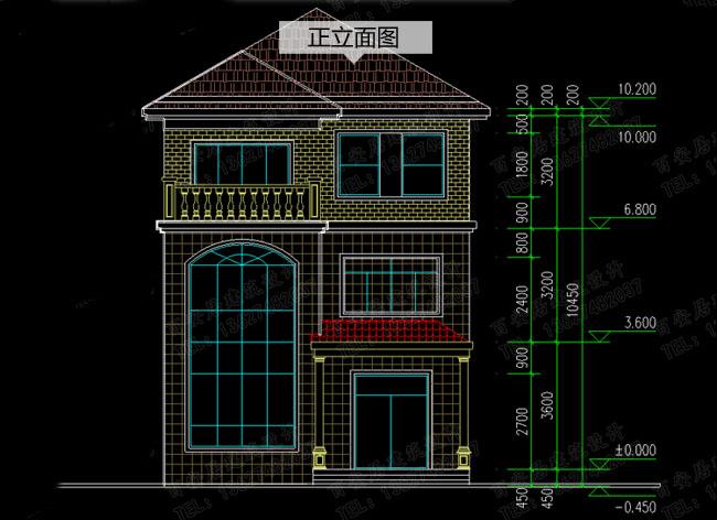 农村小户型三层复式楼房设计图,100平左右