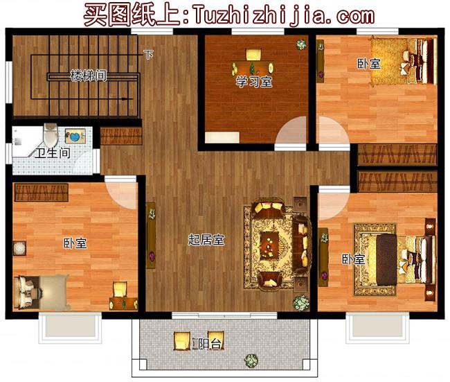 8米宽12米长房屋设计图及效果图,10套全新设计图纸图片