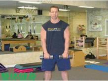 三角肌锻炼方法,一个道具就能变得孔武有力