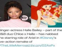 真人版《小美人鱼》女主角选择黑人网友意见大,是种族歧视吗